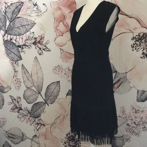 Venus Black Bodycon Flapper Dress